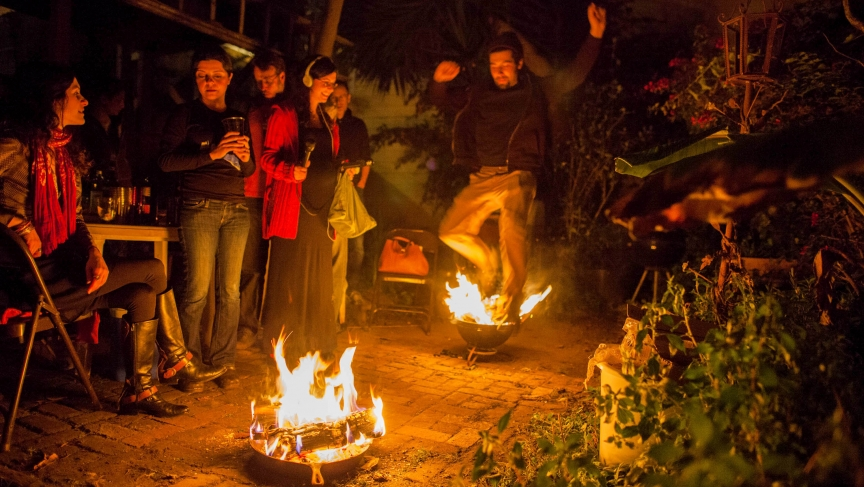 "Iranian Fire Jumping Festivity, ""Chaharshanbe Soori"", a sign of hope for victory over tyranny!"