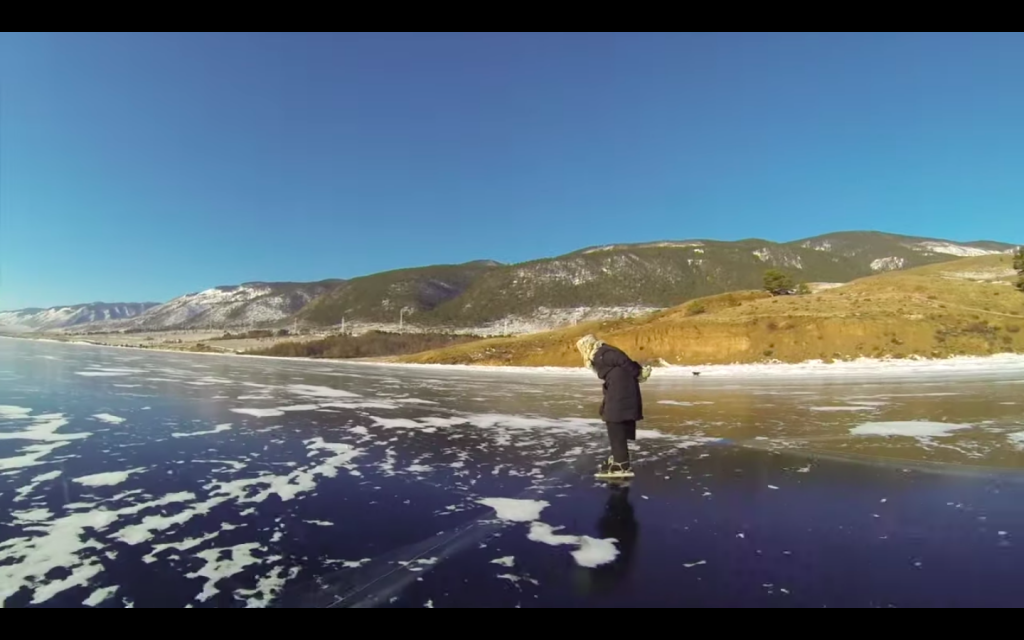 The 80 Year Old Ice Skating Babushka Of Lake Baikal In Siberia